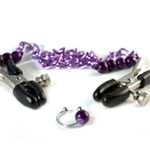 Purple Chain Nipple Clamps with Navel Ring